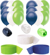 Seattle Seahawks Football NFL Super Bowl 24pc Decoration Pack Blue Lime White