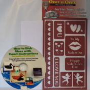 Over N Over, Valentines Day Stencils for Glass Etching & Painting + Free How to Ebook on CD