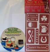 Over N Over Stencil, Irish & St. Patrick's Day + Free How to Etch ebook on CD