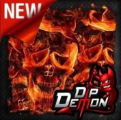 Dip Wizard- Dip Demon Inferno Flaming Skulls Hydrographic Water-Transfer Film Dip