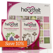 Heartfelt Creations Sugar Hollow Creative Essentials with 1 die, 1 stamp, 1 paper pad