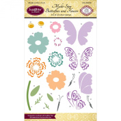 Justrite Papercraft Clear Stamps 10cm x 15cm -Multi-Step Butterflies & Flowers