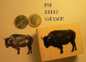 P92 Bison rubber stamp