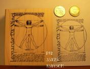 P92 Vitruvian Man Leonardo da Vinci rubber stamp