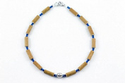 Healing Hazel Hazelwood Baby Necklace Boy Pendant, Metallic Pendant/Navy Blue/Blue