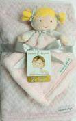 Blankets and Beyond 2 Pc Pink and Tan Zigzag Gift Set with Doll Security Blanket