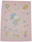 Nishikawa living baby cotton blankets Snoopy nightcap 1531-60106 Pink