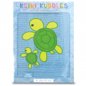 100% Cotton Baby Keiki Kuddles Blanket Honu Turtle Family Blue