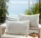 Microfiber Filled the Original Bamboo Hypoallergenic Pillow 27.5*46cm White