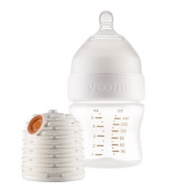 Yoomi 150ml Feeding Bottle With Warmer And Slow Flow Nipple