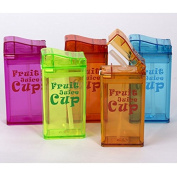New 2016 Design Cool Fruit Juice Cup Sport Fruit Infusing Water Cup Juice Bottle No BPA 240ml Baby Kids Learn to Drink Cups-colour Random