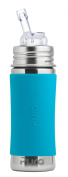 Pura Kiki Stainless Steel Straw Cup with Silicone Sleeve, 330ml