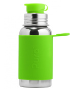 Pura Sport Stainless Steel Bottle with Silicone Sport Top, 530ml