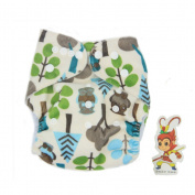 BABYBOO Baby Cloth Nappies Washable Adjustable Buckle Nappy Packing of 1,Colour Trees