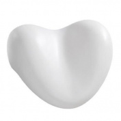 Luxury Firm Waterproof Heart Shaped Spa Bath Pillow with Suction Cups