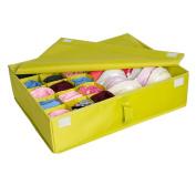 Tune Up 2 in 1 Foldable Drawer Divider,Underwear Socks Ties Bra Drawer Organiser Storage Box £¨Green£©