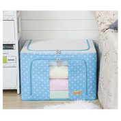 Tune Up Durable Oxford Fabric Foldable Steel Shelf Lidded Storage Box with See-through Window 66L