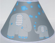 Blue Elephant Lamp Shade Elephant Nursery Decor