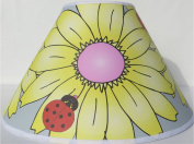 Yellow Gerber Daisy Flower Lamp Shade / Ladybug Lamp Shade