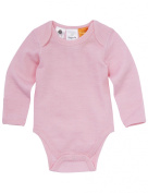 Superfit Merino Pointelle Long-Sleeve Bodysuit, Pink