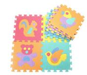 9PCS Cartoon Baby Puzzle Play Mats Folding Splicing Baby Safe Crawl Foam Mat