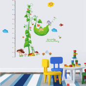 Kid's Animal Height Measure/Growth Chart Wall Stickers Children's Decal Favour for Christmas,Halloween (845-y Butterfly Baby