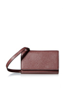 SOCIETY NEW YORK Women's Wallet with Crossbody Strap, Bordeaux, One Size