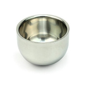 Healthcom Stainless Steel Double Layer Heat Insulation Smooth Shave Brush Mug Bowl Cup Shave Soap Cup