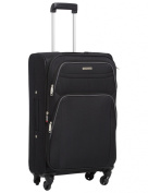 Horizon Essenziale 4-Wheel Trolley Case, 61cm, Black