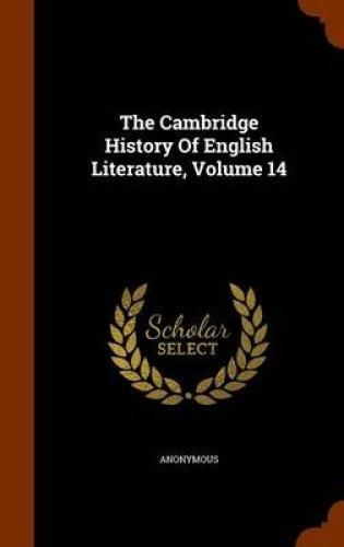 The-Cambridge-History-of-English-Literature-Volume-14-by-Anonymous