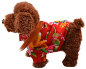 Happy Cherry Electric Leash Dog Plush Toy Dog Music Robot Dog Remote Children's Toys Electronic Pet Dog Walking Twisted Ass with Floral Clothes