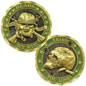Heads We Win Tails You Lose Challenge Coin - Officially Licenced By US Army