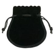 Velvet Drawstring Bell Pouch 7.6cm - 1.3cm x 7.6cm Black