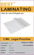 Best Laminating® - 3 Mil Clear Legal Size Thermal Laminating Pouches - 9 X 14.5 - Qty 100
