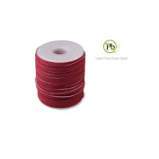 Genuine Suede Leather Lace Red 3x1.7mm 10 Metres