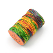 AngelaKerry 1 Roll Assorted Leather Sewing Small Waxed Thread 0.8mm Polyester 60m Cord Stitching Leathercraft