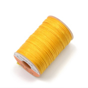 AngelaKerry 1 Roll Yellow Leather Sewing Small Waxed Thread 0.8mm Polyester 60m Cord Stitching Leathercraft
