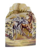 Santoro 3D Swing Greeting Card, Horses In The Fields