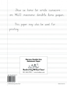 Handwriting Without Tears N100 Double Line Narrow Paper