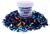 90ml Black Dichroic Glass Frit Rainbow Coe90 Fusible DF120