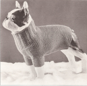 Vintage Knitting PATTERN to make - Dog Sweater. NOT a finished item. This is a pattern and/or instructions to make the item only.