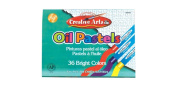Charles Leonard Oil Pastels, Ap Certified, Assorted Colours, 36/Box