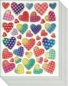 Jazzstick 400 Colourful Valentine Heart Decorative Sticker 10 sheets