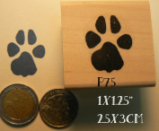 Paw print rubber stamp, dog print P75
