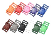 11pcs 1cm Safty Breakaway Buckles for Cat Collar Colourful