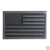 USA Black & Grey American Flag Patch