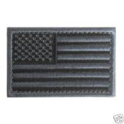 USA Black & Grey American Flag Patch