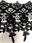 Wide Trim, 20cm Reverse Scalloped, Flower Lace Trim, 2 Yards