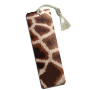 Giraffe Print Impressions Printed Bookmark with Tassel