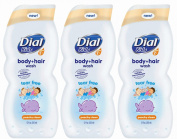 Dial Kids Body + Hair Wash, Peachy Clean, 350ml,